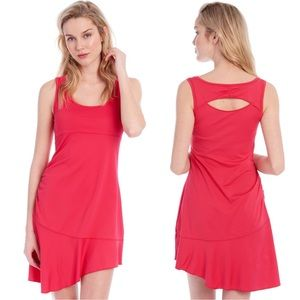 Lole Ollie Coral Ruched Side Tank Dress